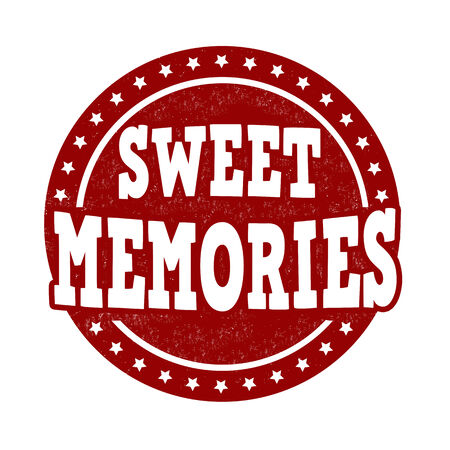 memories: Sweet memories grunge rubber stamp on white background, vector illustration