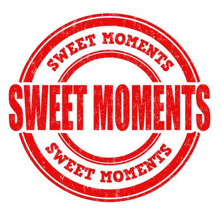 moments: Sweet moments grunge rubber stamp on white background, vector illustration Illustration