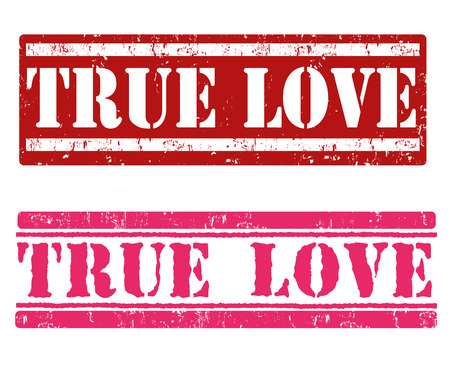 True love grunge rubber stamps on white background, vector illustration Vector
