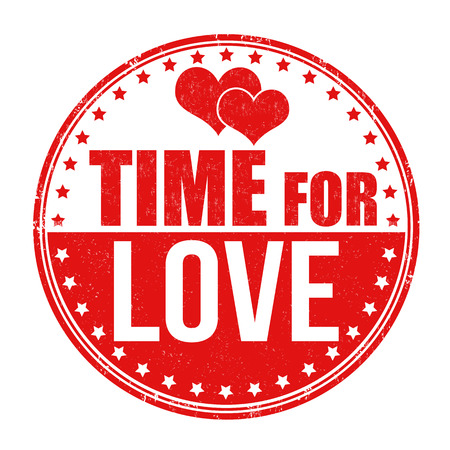 Time for love grunge rubber stamp on white background Vector