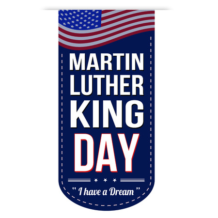 Martin Luther King Day banner design over a white background Illustration