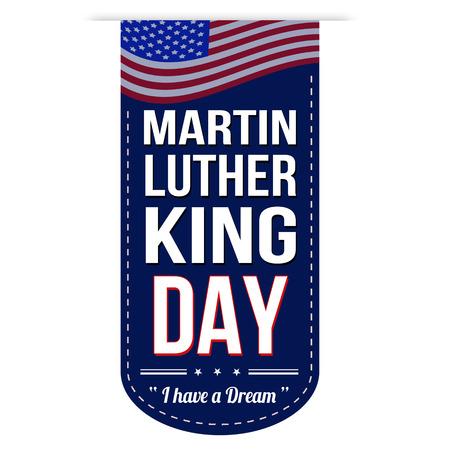 martin: Martin Luther King Day projekt banner na białym tle Ilustracja