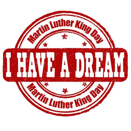 martin: Martin Luther King Day grunge rubber stamp on white Illustration