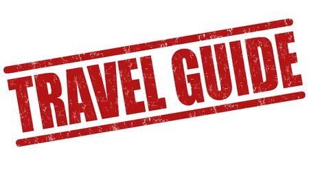 timbre voyage: guide de Voyage tampon en caoutchouc grunge sur fond blanc, illustration vectorielle Illustration