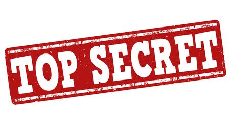 Top secret grunge rubber stamp on white background, vector illustration Vector