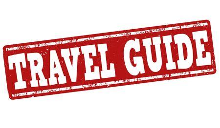 travel guide: Travel guide grunge rubber stamp on white background, vector illustration Illustration