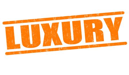 extravagant: Luxury grunge rubber stamp on white background, vector illustration