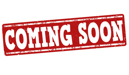 soon: Coming soon grunge rubber stamp on white background, vector illustration