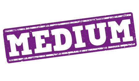 Medium grunge rubber stamp on white background, vector illustration
