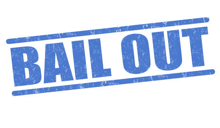 bail: Bail out grunge rubber stamp on white, vector illustration Illustration