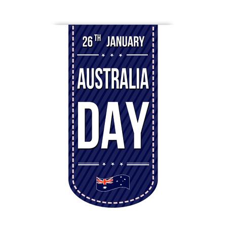 26th: Australia day banner design over a white background, vector illustration Illustration