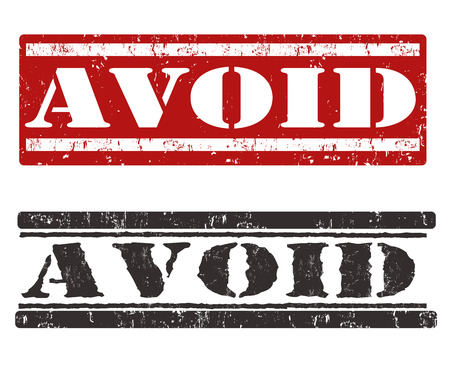 avoid: Avoid grunge rubber stamp on white background, vector illustration