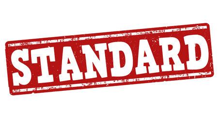 criterion: Standard grunge rubber stamp on white background, vector illustration