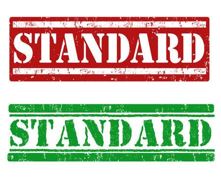 criterion: Standard grunge rubber stamps on white background, vector illustration