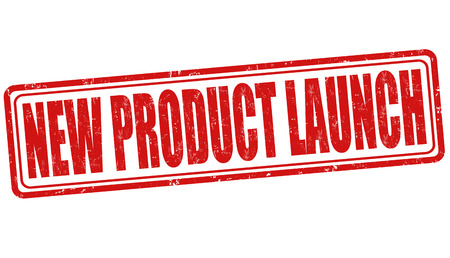 launching: New product launch grunge rubber stamp on white background, vector illustration