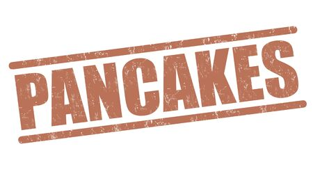 unclean: Pancakes grunge rubber stamp on white background, vector illustration