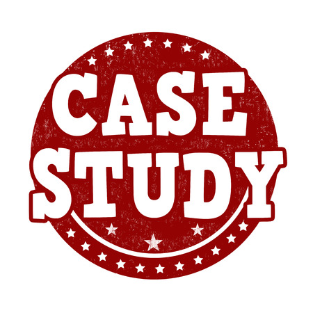 case studies: Case study grunge rubber stamp on white background, vector illustration