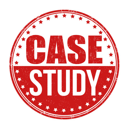 study icon: Case study grunge rubber stamp on white background, vector illustration