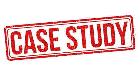 casing: Case study grunge rubber stamp on white background, vector illustration