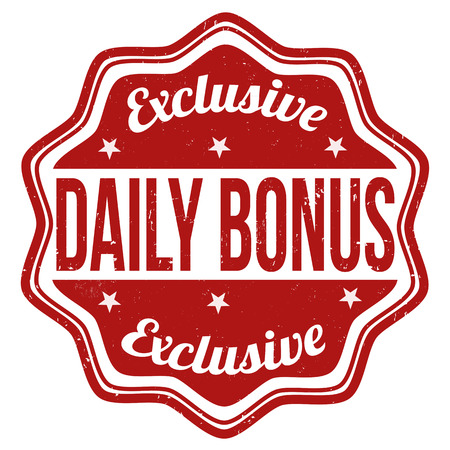 discounting: Daily bonus grunge rubber stamp on white background, vector illustration