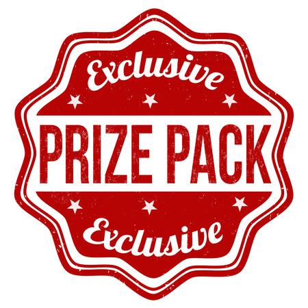 Prize pack grunge rubber stamp on white background, vector illustration Vector