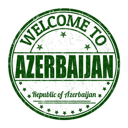 azerbaijan: Welcome to Azerbaijan grunge rubber stamp on white background, vector illustration Illustration