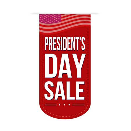 president's: Presidents Day sale banner design over a white background, vector illustration