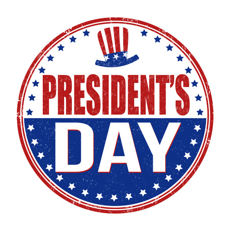 president of the usa: Grunge rubber stamp with the text Presidents Day written inside, vector illustration