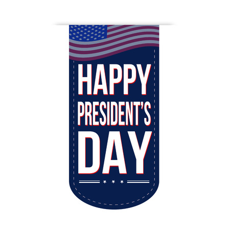 president's: Happy Presidents Day banner design over a white background, vector illustration Illustration