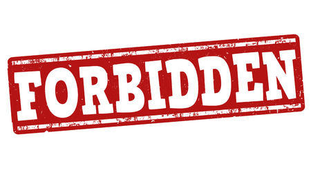 dope: Forbidden grunge rubber stamp on white background, vector illustration