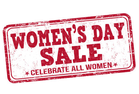 womens: Womens day sale stamp