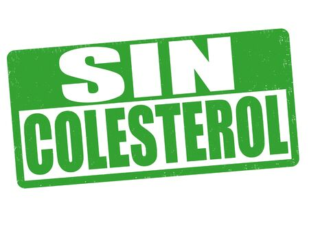 no cholesterol: Cholesterol free grunge rubber stamp on white ( in spanish language), vector illustration