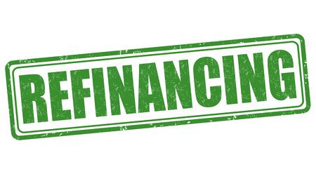 refinancing interest rates: Refinancing grunge rubber stamp on white background, vector illustration Illustration