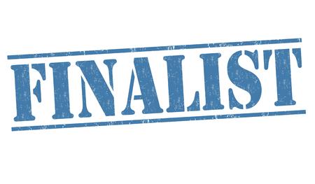 finalist: Finalist grunge rubber stamp on white background, vector illustration