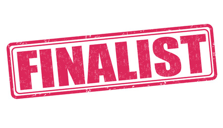 inked: Finalist grunge rubber stamp on white background, vector illustration
