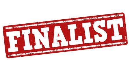 finalistin: Finalist Grunge-Stempel auf wei�em Hintergrund, Vektor-Illustration