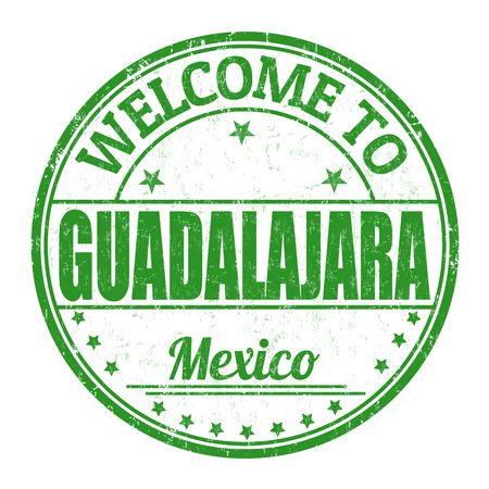 guadalajara: Welcome to Guadalajara grunge rubber stamp on white background, vector illustration Illustration