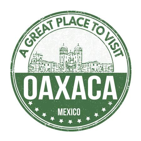 oaxaca: Oaxaca grunge rubber stamp on white background, vector illustration