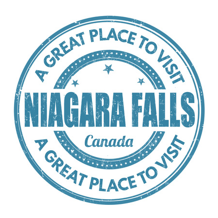 canada stamp: Niagara Falls grunge rubber stamp on white background, vector illustration