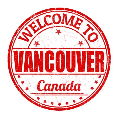 vancouver: Welcome to Vancouver grunge rubber stamp on white background, vector illustration Illustration