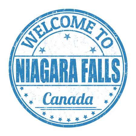 niagara: Welcome to Niagara Falls grunge rubber stamp on white background, vector illustration Illustration
