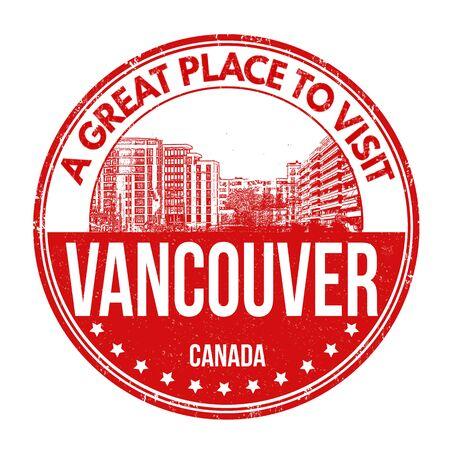 vancouver: Vancouver grunge rubber stamp on white background, vector illustration Illustration