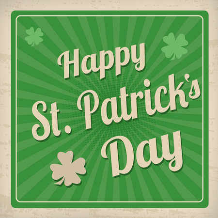 Happy St. Patrick vintage poster Vector