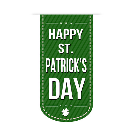 saint patrick s: Happy St. Patrick day banner