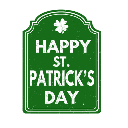 st  patrick day: St. Patrick day stamp Illustration