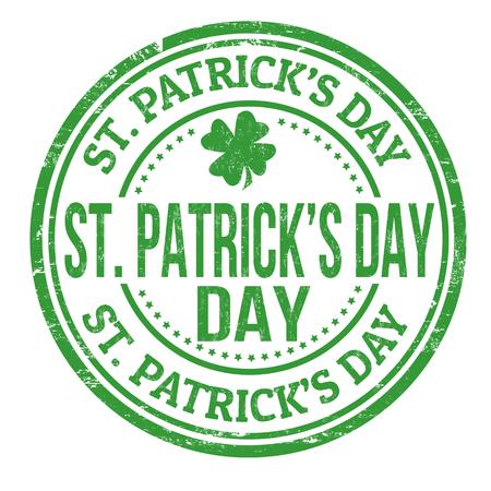 st patrick: St. Patrick day stamp Illustration