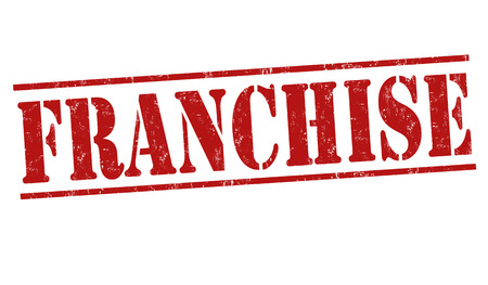 authorization: Franchise grunge rubber stamp on white background, vector illustration Illustration