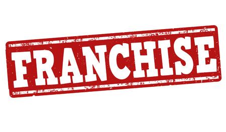 franchise: Franchise grunge rubber stamp on white background, vector illustration Illustration