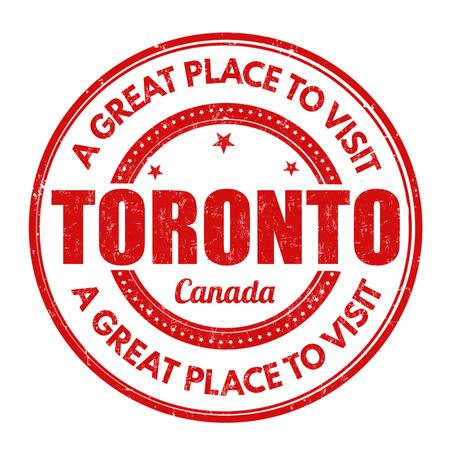 best travel destinations: Toronto grunge rubber stamp on white background, vector illustration Illustration