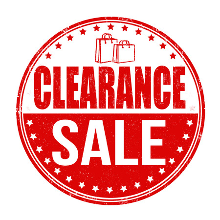 clearance: Clearance sale grunge rubber stamp on white background, vector illustration